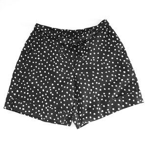 Lane Bryant Linen Blend Bow Polkadot Shorts 14/16